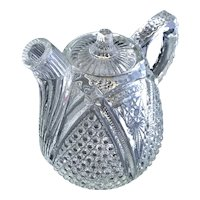 Antique EAPG US Glass 19th Century Rum Pot