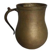 Antique Medieval Bronze Beer or Mead Mug