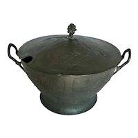 Antique Jugendstil Kayserzinn Pewter Soup Tureen