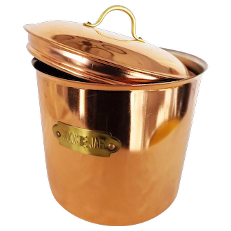 Aluminum Lined Copper Cookie Jar