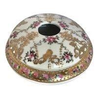 Vintage Gilded Nippon Japanese Porcelain Hair Receiver