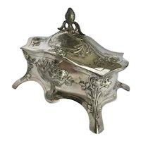 Antique WMF Jugendstil Silver Plated Jewel Casket