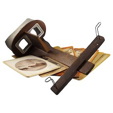 Antique Monarch Stereoscope with Stereoscope Card Set