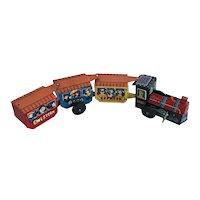 Vintage Takatoku Toys Japanese Tin Litho Wind Up Train