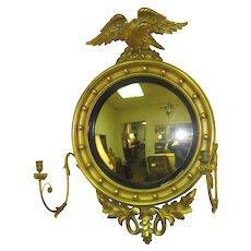 American  Antique Bulls Eye  Convex Mirror