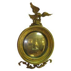 English Antique Bulls Eye  Convex Mirror