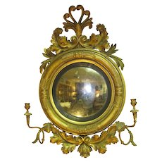 19th Century English Giltwood Girandole Mirror