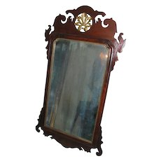 18th c. Chippendale Mahogany Carved Mirror