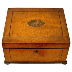 19th c. English Tilt-top Inlaid Letter Box