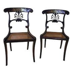 19th Century Regency Side Chair Pair