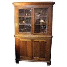 19th c. American Primitive Corner Cupboard