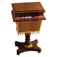 19th c. English Regency Rosewood Work Table