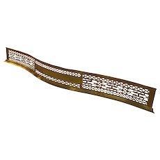 18th Century Serpentine Brass Fender