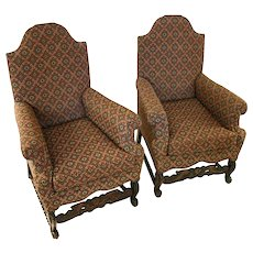 19th Century Jacobean Revival Armchairs