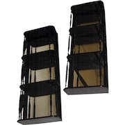 19th Century Pair Sheraton Mirrored Shelves