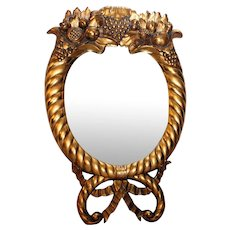 Gilt Wood American Empire  Mirror