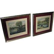 19th Century English Fishing Aquatints