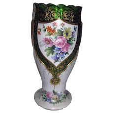 Antique Moser Bohemian Art Glass Overlay Vase