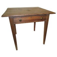 19th Century American Primitive Work Table