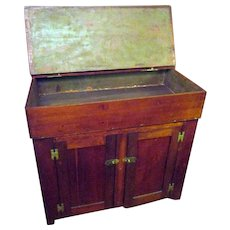 19th Century American Primitive Cherry Wood Dry Sink
