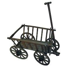 Antique Cutting Garden Wooden Wagon
