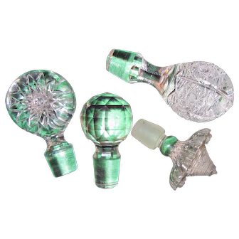 Antique Glass Bottle Stopper Assortment