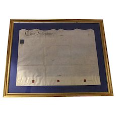 English Indenture Legal Document on Parchment