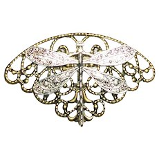 Art Nouveau Style DRAGONFLY Brooch Pin
