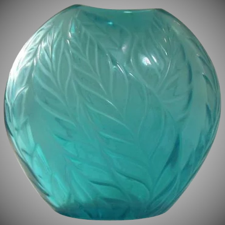 Lalique Filicaria Crystal Art Glass Vase From Gillian Ruby Lane