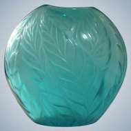 Lalique Filicaria Crystal Art Glass Vase