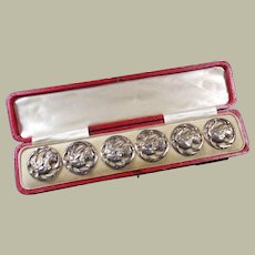 English Sterling Silver Cased Buttons Hallmarked 1907