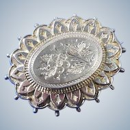 English Silver Sweetheart Brooch
