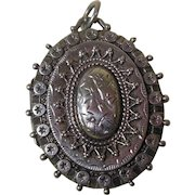 English Sterling Silver Locket Hallmarked 1885