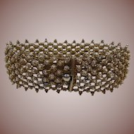 Silver/Gilt (835/1000) Mesh Bangle Bracelet HM