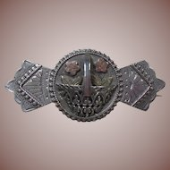 English Sterling Silver Sweetheart/Regard Brooch Hallmarked
