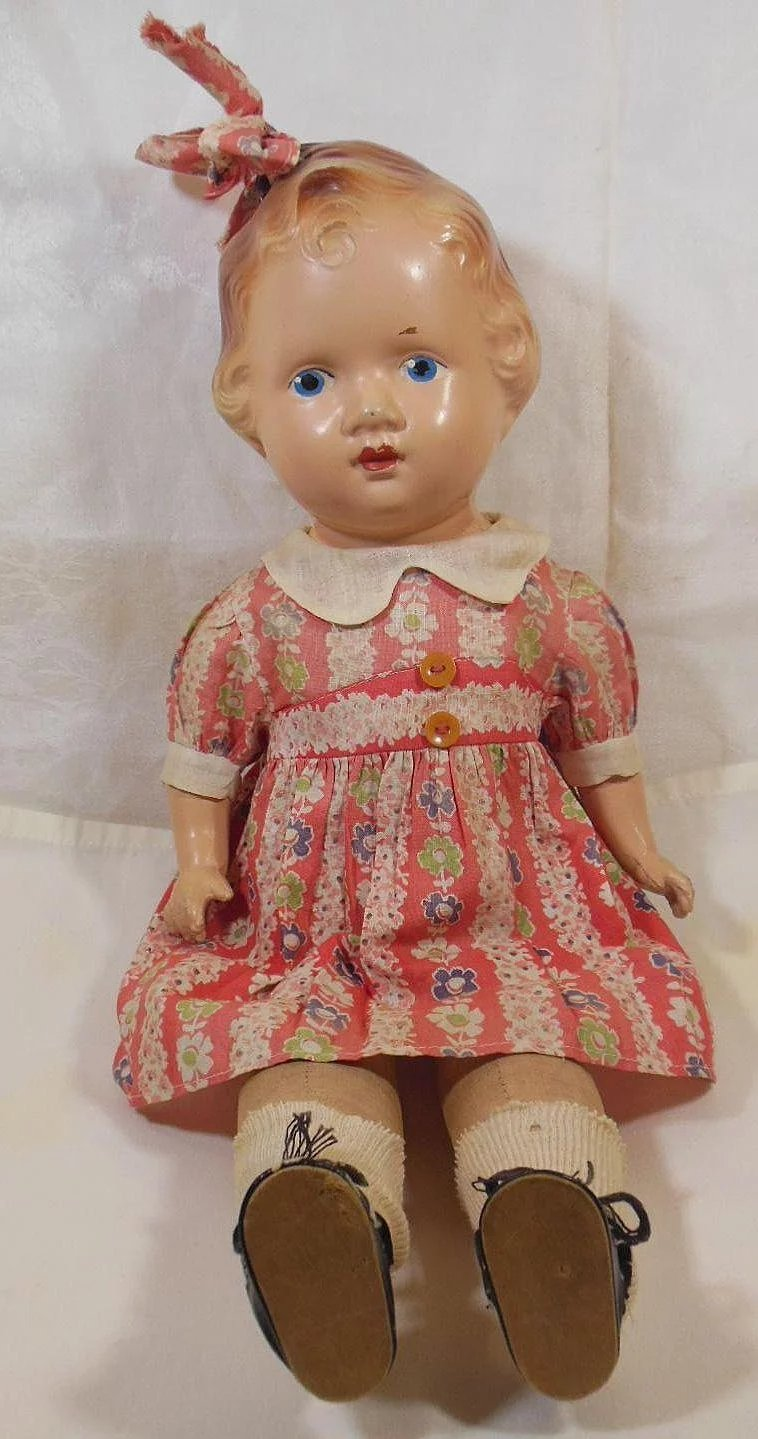 A Reliable Doll Hair Bow Peggy 1935 Composition Soft