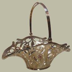 Sterling Silver Art Nouveau Pierced Easter Sweet Basket- Circa 1910-40