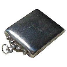 English Sterling Silver Locket/Stamp Holder- Hallmarked 1909