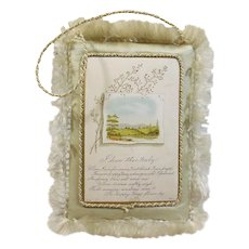 "Victorian Greeting Card "" I Love Thee Truly "" Circa 1837-1901-Silk Fringed"