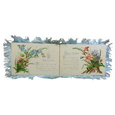 "Victorian Silk Fringed Greeting Card  ""To My Love"" 1837-1901"