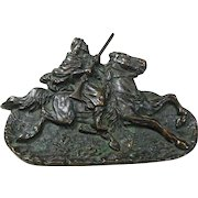 Bronze Desk Tray Horse and Arab Circa 1910-30's