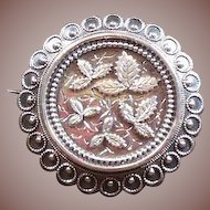 Sterling Silver Sweetheart/Remembrance Brooch Circa 1880-1900