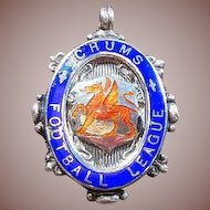 English Sterling Silver and Enamel Trophy/Fob/Pendant/Charm Hallmarked