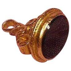 Vintage 9 Karat Gold and Onyx Charm/Fob/Pendant English Hallmarked 9.375
