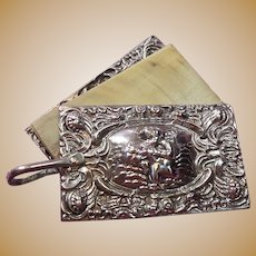English Sterling Silver Chatelaine Memoir Pendant/Notion Hallmarked