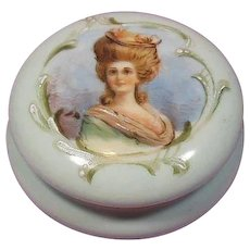 Hand Painted Portrait French Porcelain Trinket/Keepsake Box