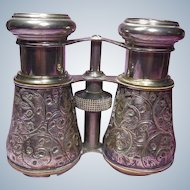 Antique Sterling Silver Cased Opera Glasses- English Hallmarked-1898
