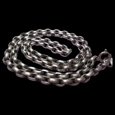 """Arts and Crafts Sterling Silver Belcher Neck Chain 24""""-26.8 Gram"""