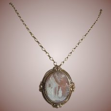 Antique Victorian(1837-1901) Carved Cameo, Rebecca-Pinchbeck