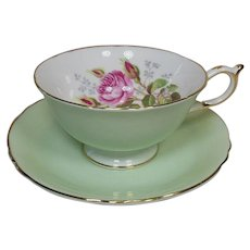 Paragon English Bone ChinaTea Cup and Saucer-Roses-Vintage 1940's Mother's Day Sweet